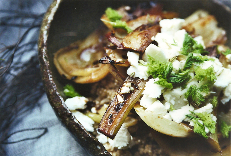 Roasted fennel on almond quinoa // From Hand To Mouth