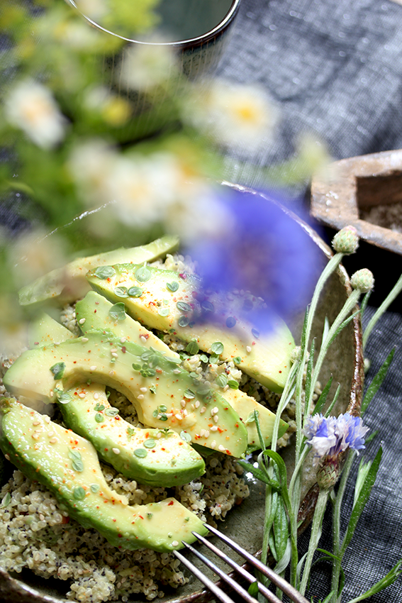 Avocado on Poppy Seed Quinoa // From Hand To Mouth