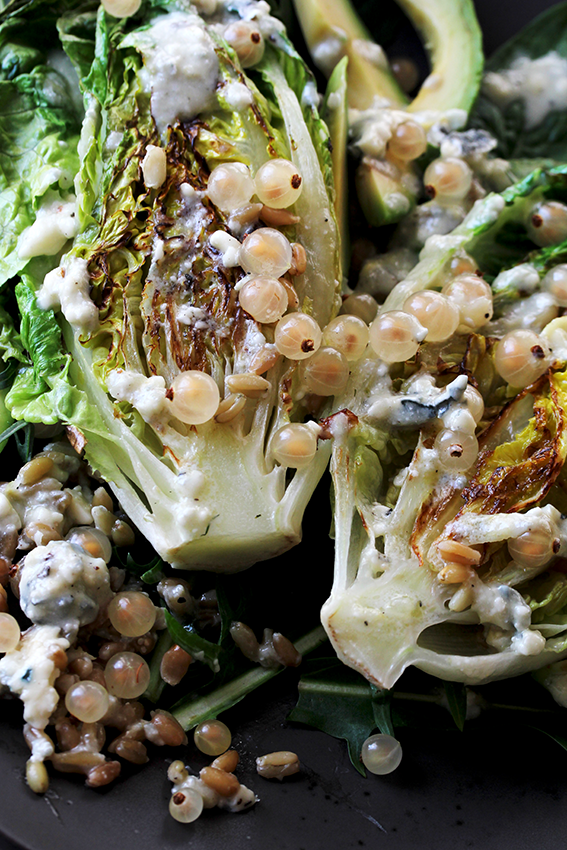 Grilled Romaine with Gorgonzola Dressing // From Hand To Mouth